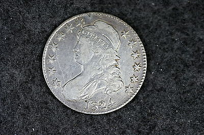 1824 Estate Find Capped Bust Half Dollar!! #D0068