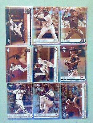 2019 Topps Chrome Sepia Refractor Lot 18 Different