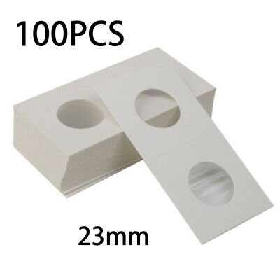 100pcs Assorted Coin Holders 2X2 Cardboard Mylar Flips You Pick Size Dia 23mm.