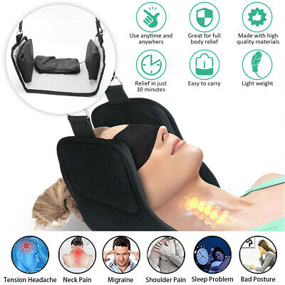 Head Pain Relief Hammock Support Massager Cervical Traction Device Stretcher
