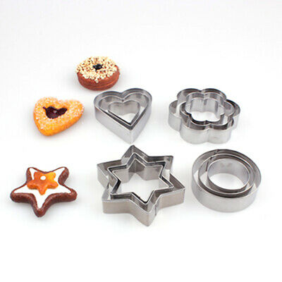 Pastry Stencils Stainless Steel Nonstick Baking Mould Reusable Star Heart
