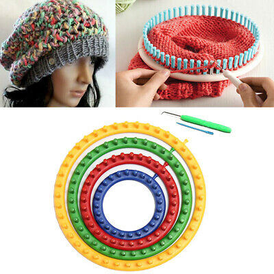 Sweater Durable Craft Kit Tool Knitting Looms DIY PP Round With Hook Needle