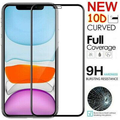 For iPhone 11 Pro X XR XS Max 10D Edge Full Tempered Glass Screen Protector AU