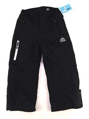Leysin Boys Black Walking Outdoors Mountains Hiking Windproof Trousers Age 7-8