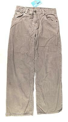 Next Boys Textured Grey Cordouroy Casual Trousers Age 12