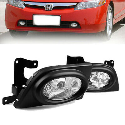 Fit 2009-11 Honda Civic 2Dr Coupe Bumper Fog Lights Yellow w//Switch//Relay//Wiring