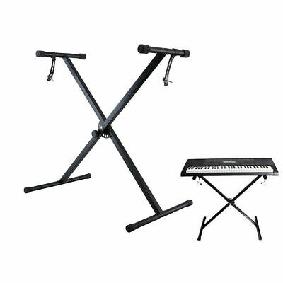 Portable X Frame Music Piano Keyboard Stand Folding Height Adjustable With Strap