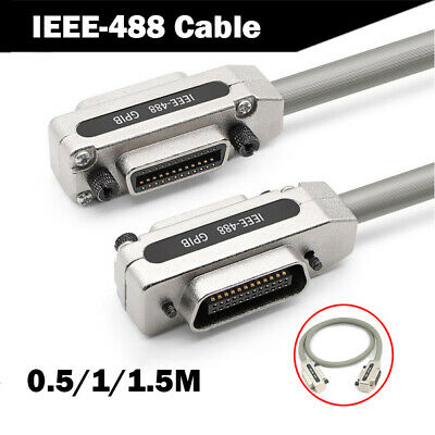 IEEE-488 GPIB Cable Cable Data Line Data Wire Cord Lead Metal Adapter 0.5/1/1.5M