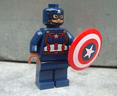LEGO Super Heroes CAPTAIN AMERICA minifigure ONLY from Avengers set 76051