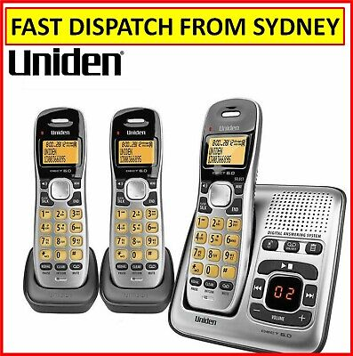 Uniden Twin Handset Cordless Home Phone with Answering Machine NBN Ready Office