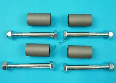 4 x Leaf Spring Eye Bush 28mm x 50mm with 100mm Bolts for Ifor Williams Trailer