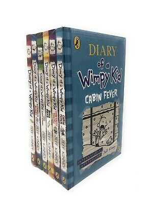 Diary of a Wimpy Kid 6 Books Set Collection The Ugly Truth, Cabin Fever | Kinney