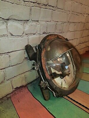 Old Antique Industrial Boat Ships Round Bulkhead Wall Ceiling Light Lamp Lantern