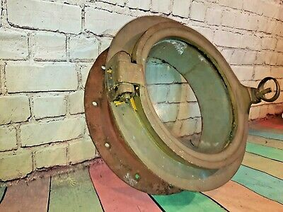 Antique Vintage Old Solid Brass Ship Boat Porthole Opening Window Nautical 40cm