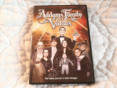 Addams Family Values Dvd Anjelica Huston Raul Julia Christopher Lloyd Carol Kane