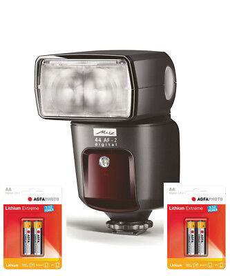Metz Mecablitz 44 AF-2 Digitale Flash per Canon Incl. 4 Aa Litio Pacchetto
