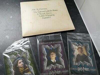 Harry Potter letter from Hogwarts envelope with Artbox Cards promo items