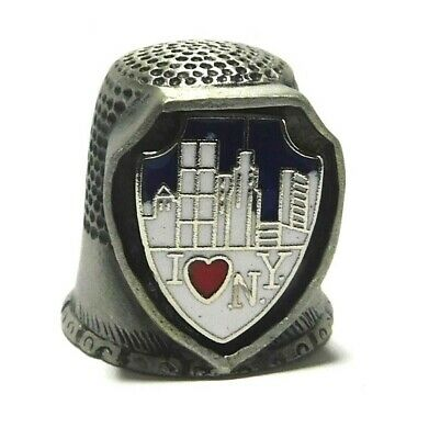 I Love New York Pewter Thimble Mint In Box