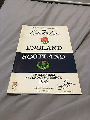 1985-England V Scotland-Five Nations-Calcutta Cup-International Rugby Programme