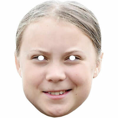 Greta Thunberg Swedish Environmental Activist Card Mask - Made By Funkybunky