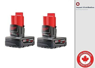 MILWAUKEE M12 Li-Ion XC High Capacity Battery Pack 4.0Ah (2-Pack) 48-11-2440