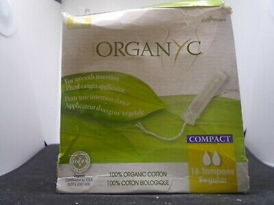 Organyc - Organic Cotton Menstrual Tampons Regular - 16 Count