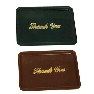 Set of 10 Plastic Restaurant Tip Tray Plate Black or Brown Color