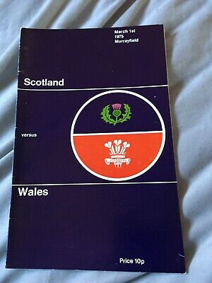 1975-Scotland V Wales-Five Nations Champions International Rugby Union Programme