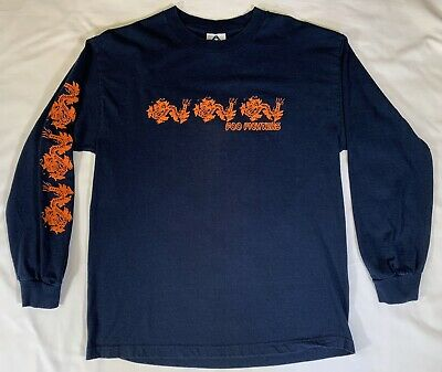 Blue Alstyle Foo Fighters 2003 Tour Long Sleeve T Shirt Size Large Dragons
