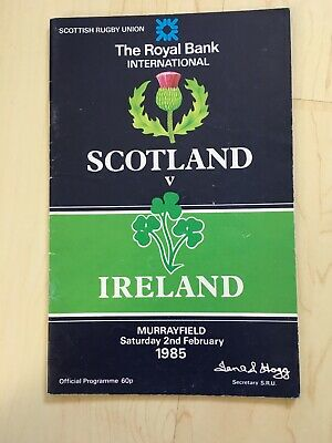 1985 Scotland V Ireland Five Nations Champions Triple Crown Rugby Programme