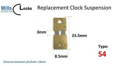 Clock Hour Hand Collet Brass Mantle, Bracket- L: 5.4mm x 5.8mm x 4.2mm (HC6)
