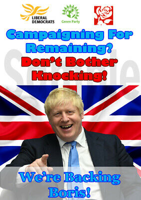 Brexit Poster Bojo Laughing At Remainers