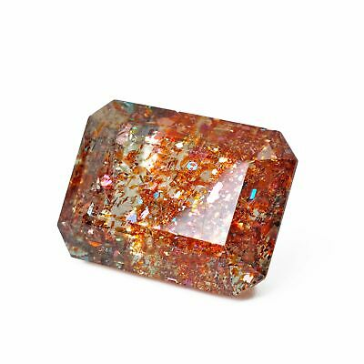 Tanzanian Sunstone 20.30 mm 23.83 carats Faceted Rectangle Spectacular Gemstone