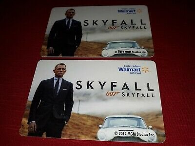 Skyfall 007 Movie 2012 COLLECTIBLE Walmart Gift Card New No Cash Value