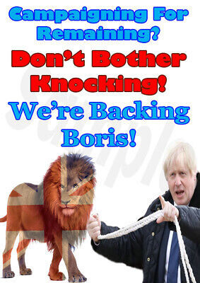Brexit Poster Bojo With British Lion