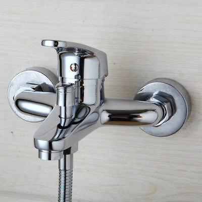 US Bathroom Faucet Wall Mounted Hand Shower Bathtub Hot Cold Tap With Spray