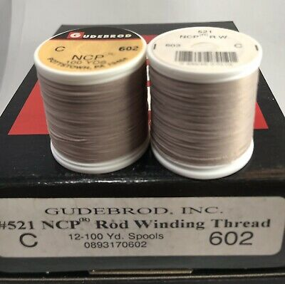 12 Spools GUDEBROD Rod Building Thread NYLON Navy #066 Size E 1200 Yd