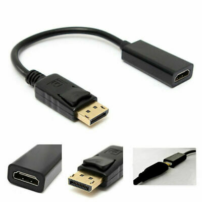 Displayport DP to HDMI Adapter Male Female Cable Full HD 1080P Display Port Lead