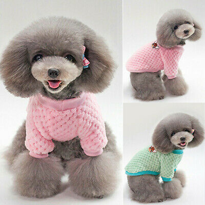 UK Cute Knitted Dog Cat Jumper Pet Clothes Sweater For Small To Medium Dogs