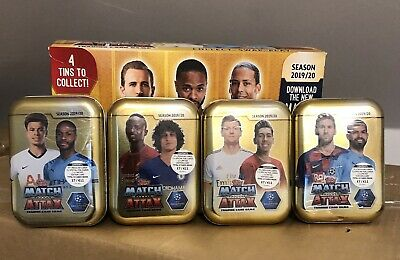 Match Attax 2019/20 Mini Tins X 4 Brand New Sealed 19/20 Season Topps