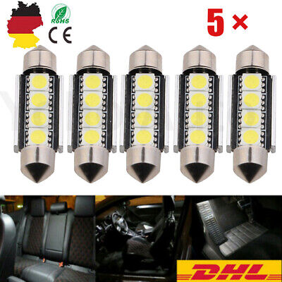 5//10 42mm LED Soffitte 5050 4SMD weiß Innenraum Soffite Beleuchtung Xenon DHL