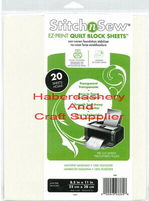 Thermoweb Stitch And Sew Quilt Blocks 20 Sheets Printable