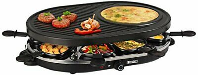 Princess 01.162700.01.001 raclette 8 oval grill party nero (QZx)