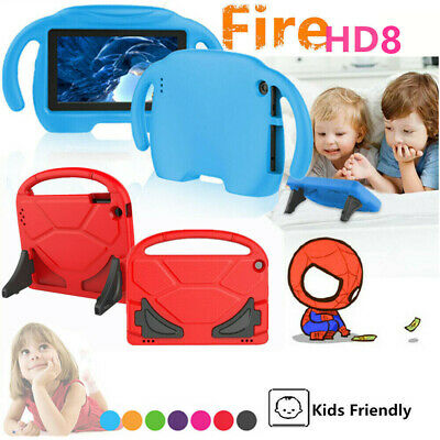 Kids EVA Foam Stand Cover Smart Case Handle For Amazon 2018 Fire HD 8 8'' tablet