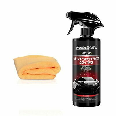 Shine Armor Ceramic Car Spray Wax Polish Sealant Top Coat Nano Coating Kit 16oz