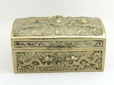 Early Chinese Trinket Box With Dragons