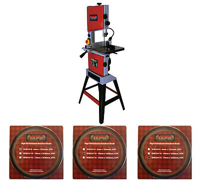 """10"""" Professional Woodworking Bandsaw with Cast Table Solid Fence & 3 Blades 240v"""