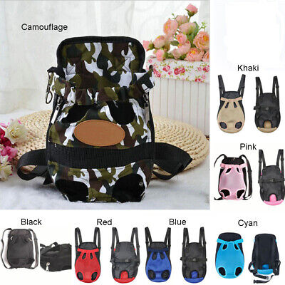 Chien Chat Nylon Animal de Compagne Chiot Carrier Sac à Dos avant Tote Net