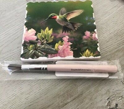 bareMinerals Tapered Crease Defining Brush - Pink Handle with Silver Seal - NEW