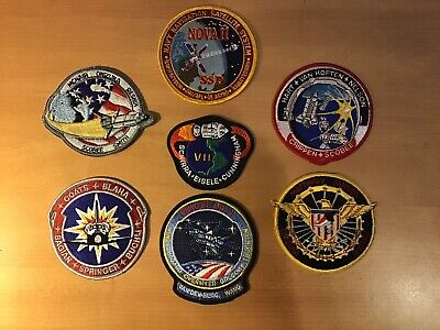 Lot of Seven (7) Different NASA Space Shuttle Mission Embroidered Patches